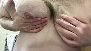 Getting my superchub manboobs out