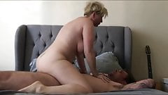 Mature blonde milf cheats while her husband is away