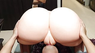 spanking and licking pussy