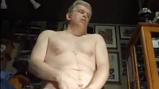 Hot daddy wanking hard
