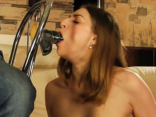 Rubber blowup bondage Pretty girl sucks dildo, and gets rubber band punishment.