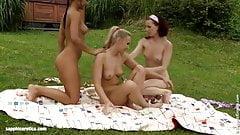Tania and Kari lesbians filmed by Sapphic Erotica