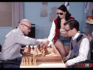 Porn strip chess Nerdy chess player gets his first girl
