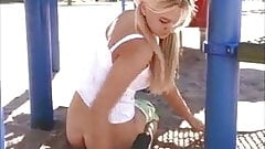 Alison - Takes her Clothes of on Playground