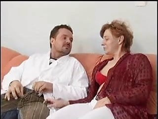 Hairy mature nude woman Hairy mature woman gets anal and facial by her crazy doctor