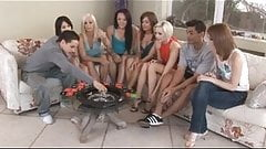 American teens playing a funny sex game and fucking