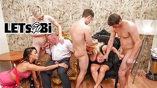 Rich Bi Couple Throw a Fucking Decadence Party