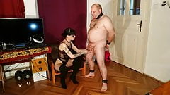 Sexy domina cbt & dick spanking fat slave pt1 HD