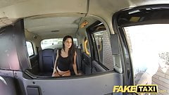 Fake Taxi John makes guys gf squirt and cums on her face