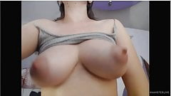 Lactating Milky Breasts & Hairy Wet Pussy Masturbation, Squirting