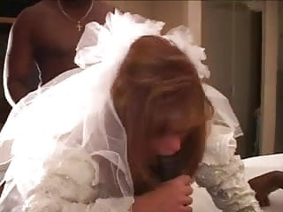 Lesbian wedding vow Cuckold wedding night with two black cocks