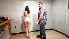 ENF arrested and strip search in jail embarrassed and naked