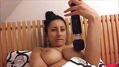 sweet dark haired italian girl playing with herself