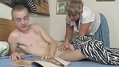 Caught wanking on a pornmag by fakemum