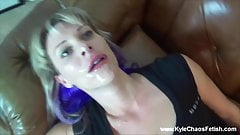 Cumshot Facial on Sexy Milf