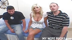 Watch your wife humping a huge cock