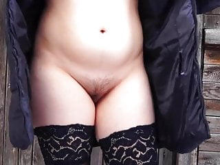 Dog peeing gif By a pussy hairy girl smokes and pees