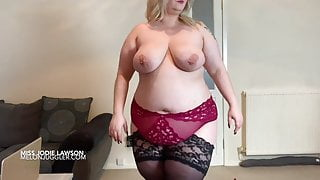 Big tits and belly blonde wants your cock