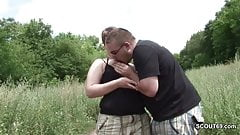 Stranger Fuck German Street Whore Without Condom in Public