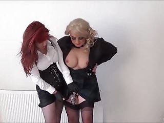 Angeliques tits Angelique pegged against the wall by madame c