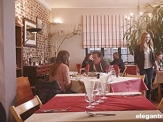 Waitress er classy lingerie restaurant Anal gaping and threesome with restaurant waitresses