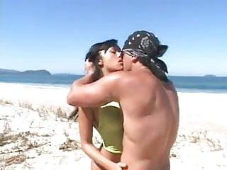 Pornstars at the beach Papa - hot sex on the beach