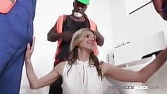 Private Black - BBC Lover Gina Gerson Fucks 4 Black Cocks!