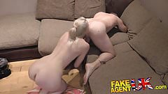FakeAgentUK Dirty agent gives anal creampie to hot blonde