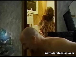 Guy gets ass fucked Bald guy fucks babes and gets ass fucked with strap-on