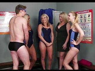 Virgin swim teacher gets fucked - Guy joins the swim team