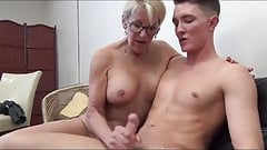 Mature woman seduce young man