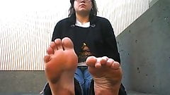 Extremely stinky dirty feet