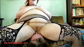 Big boobs face sitter demands he cums on her cunt