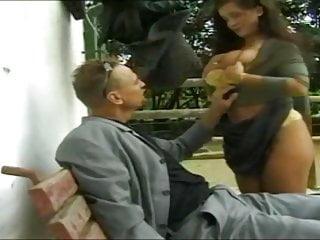Bondage brust Sandra brust outdoor anal