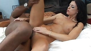 White whore loves gigantic black dick stretching her tight little pussy