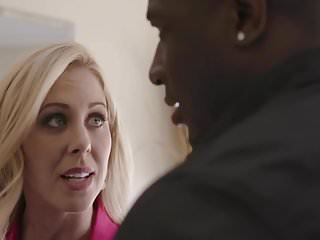 Big hairy deals Darkx cherie deville closes the deal with bbc