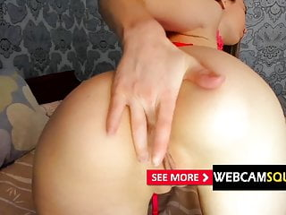 Monster cock fucking double penatration - Webcam squirt - horny lena get double toy deep penatration