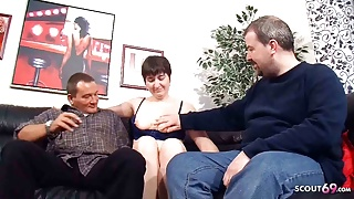 Ugly Old German Couple's First Threesome with Stranger