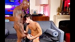 Teen gets his ass rammed bareback by giant black cock