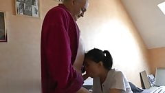 HORNY OLD PERVERT ASKS HIS ASIAN NURSEMAID TO FUCK