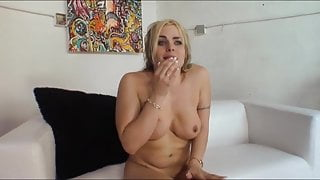 Busty blonde girlfriend is caught cheating on film