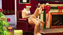 Bad Santa in town - xmas sims4 gay cartoon