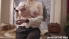 European woman showing her naked figure