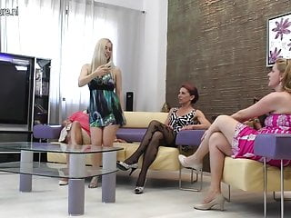 Clip granny mature movie old - Four old and young lesbians making their own movie