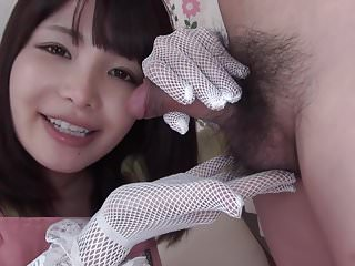 Slutty plus lingerie Japanese stocking hand plus ass rimming