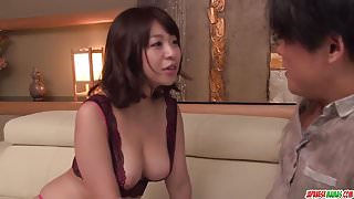 Milf in heats Wakaba Onoue amazing sex in bedroom with step son