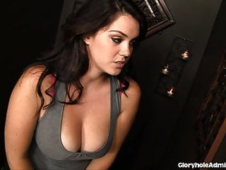 Taren church nude - Busty brunette sucks on church gloryhole cock