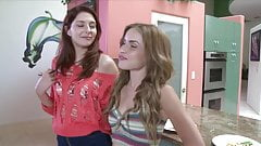 Girl on Girl Sex: Naughty Lesbians Teens Natalie and Morgan