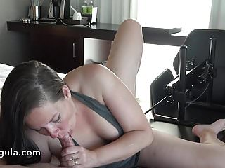 Sucking boob machines Fucked by the fuckmachine while sucking his cock