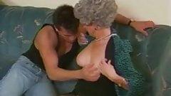 Buffed stud fucks old grandma
